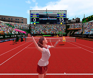 Cyber Tennis by TECHNICAL ARTS for the Oculus Quest App Lab