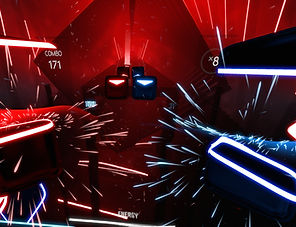 Beat Saber by Beat Games for the Oculus Rift, HTC Vive and PlayStation VR