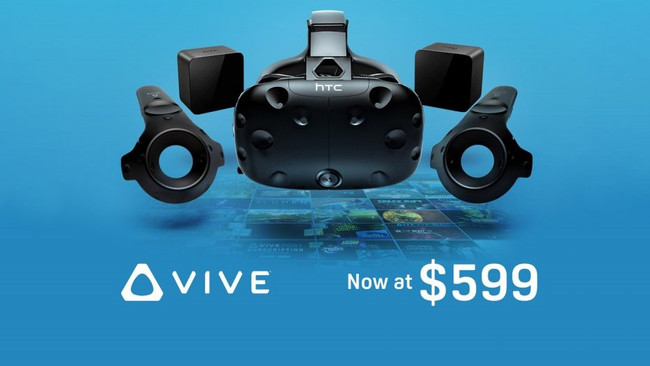 HTC Vive drops price to $599, keeping it competitive with Oculus Rift