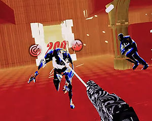 Pistol Whip by Cloudhead Games for the HTC Vive, Oculus Rift, Valve Index and Windows Mixed-Reality platforms