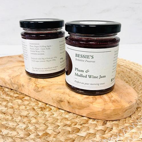 Plum & Mulled Wine Jam - Bessie's Yorkshire Preserves