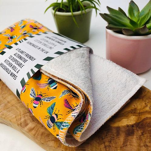 Unpaper Towels - Cotton Flannel & Cotton Towelling (5pack)