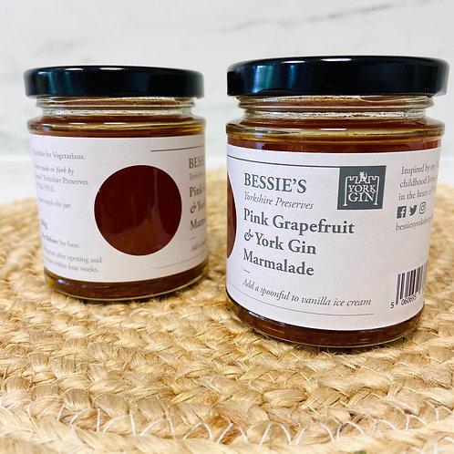 Pink Grapefruit & York Gin Marmalade - Bessie's Yorkshire Preserves