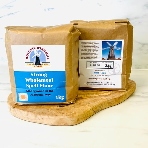 Strong Wholemeal Spelt Flour - Holgate Windmill (1/5kg)
