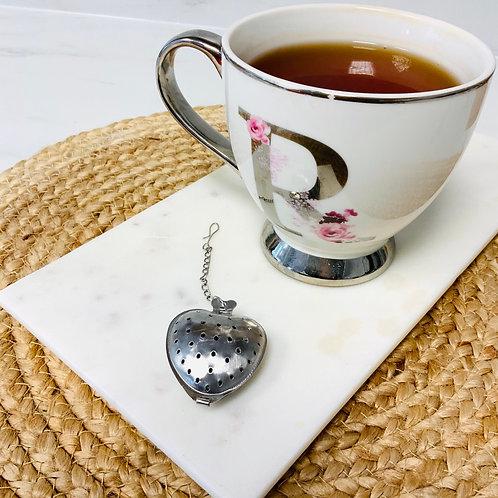 Heart tea strainer