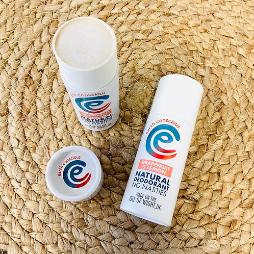 Earth Conscious Natural Deodorant Sticks (various scents)