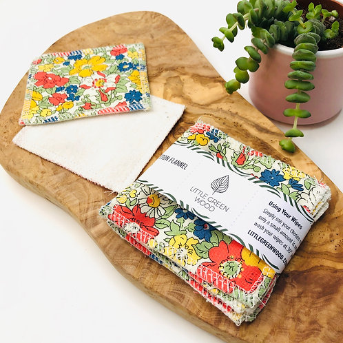(WS) Soft & Smooth Wipes - Liberty Cotton & Organic Cotton Fleece (5/10pack)