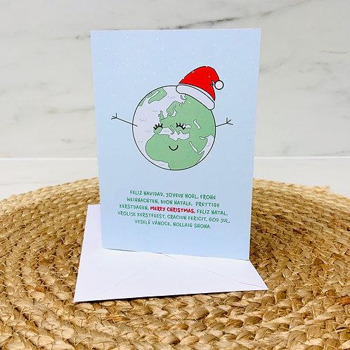 GM Merry Christmas World Card