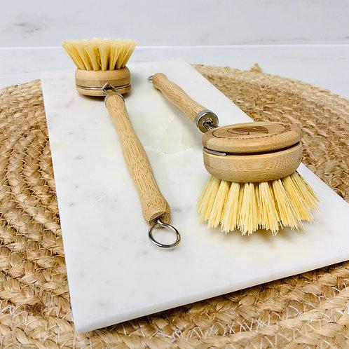 Bamboo scrubbing brush