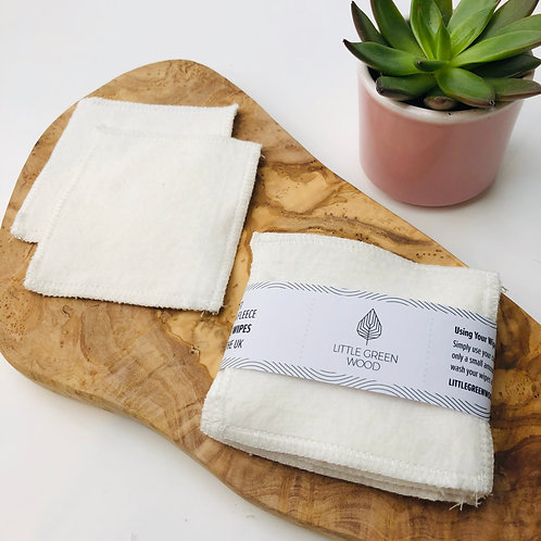 (WS) Super Soft Make-Up Wipes - Organic Cotton Fleece (5/10pack)