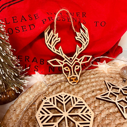 Wooden Crafted Tree Ornaments