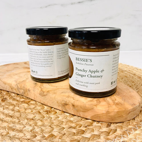 Punchy Apple and Ginger Chutney - Bessie's Yorkshire Preserves