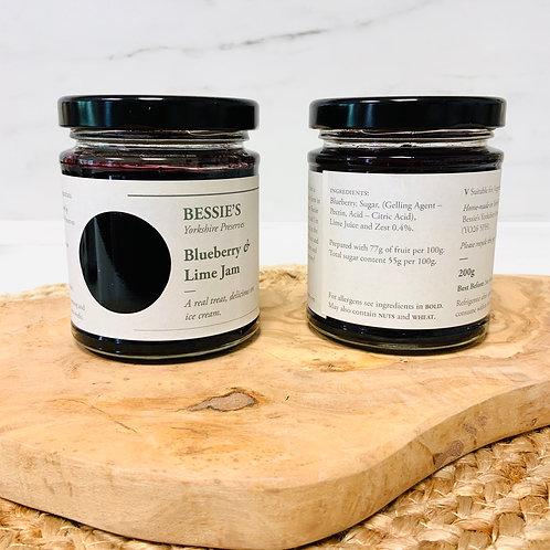 Blueberry & Lime Jam - Bessie's Yorkshire Preserves
