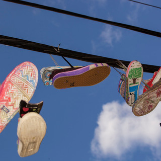 Kicks in the Sky - sneaker art at Walton Avenue