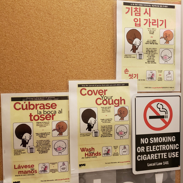 Cover your cough posters in 3 languages