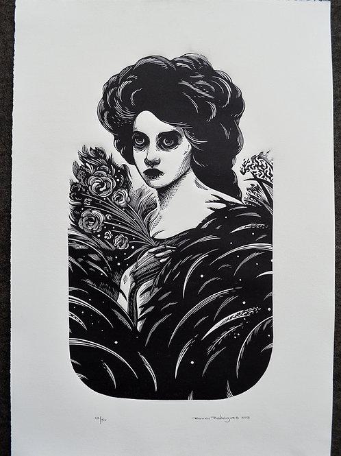 Mulher e flores