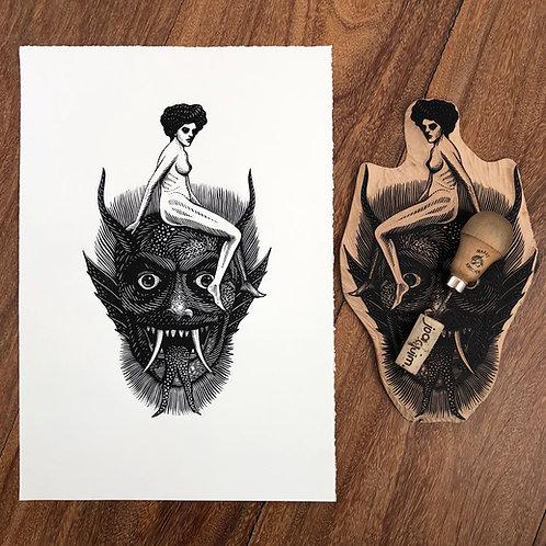 Demônio e mulher