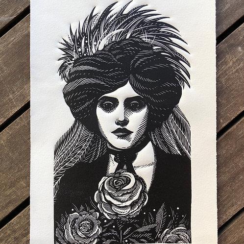 Mulher com rosas