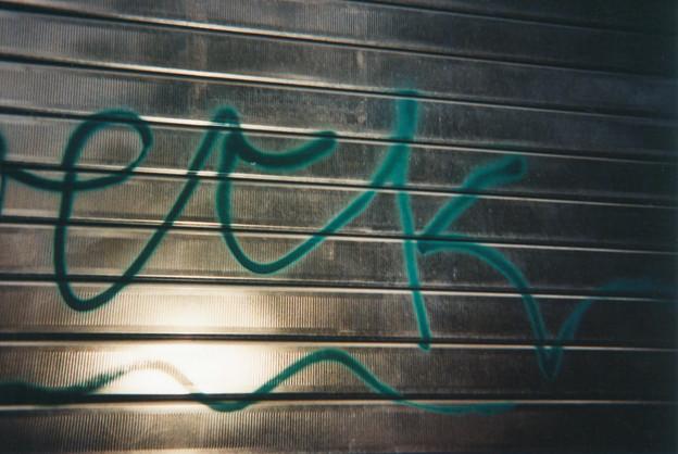 Graffito su saracinesca...