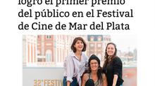 El documental Primas logró el primer premio del público en el Festival de Cine de Mar del Plata