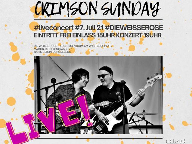 CRIMSON SUNDAY live 7th July, 2021 - 7pm