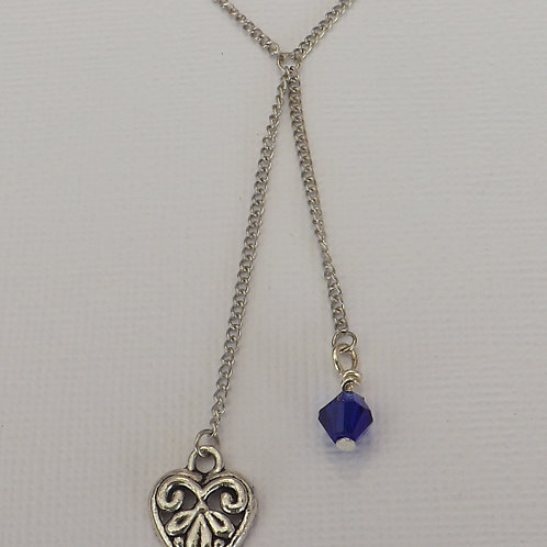2 Drop chain necklace with 2 charms