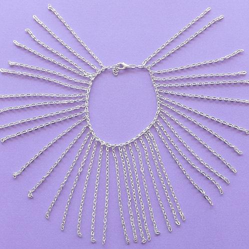 Chain fringe bracelet - Silver or Gold