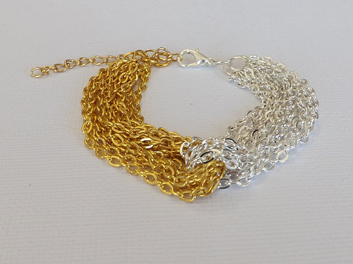 Intertwined chain bracelet