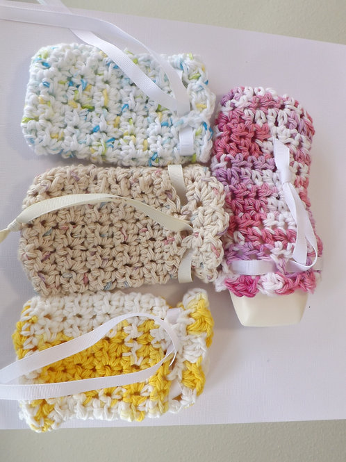 100 % crocheted soap bag