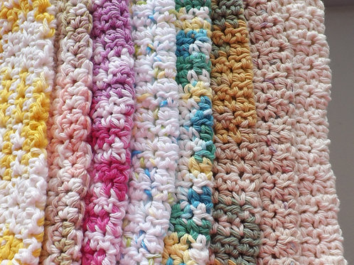 100 % crocheted spa or dish cloth