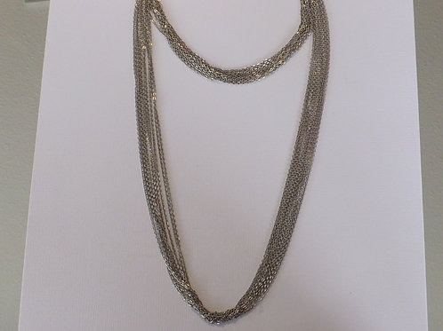 Two length chain necklace with multi strands