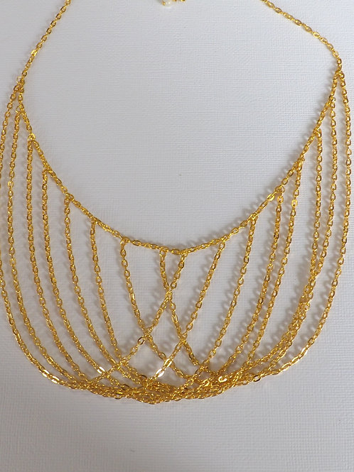 Ladies chain bib necklace
