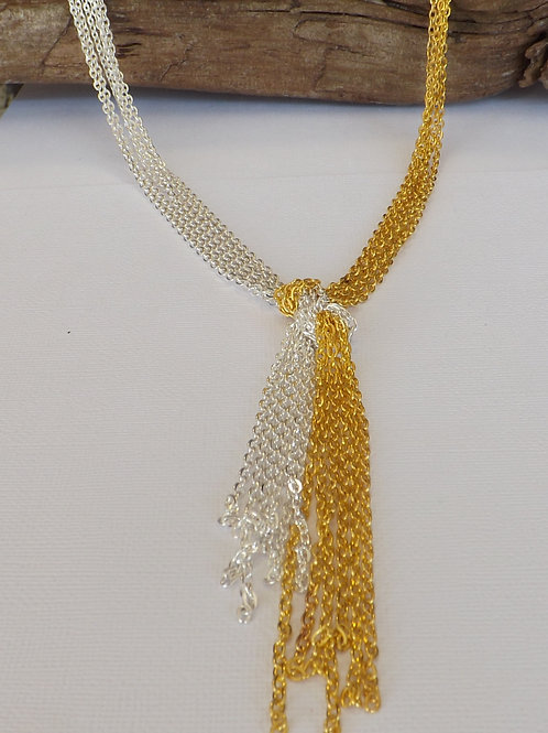 Ladies cabble chain Knot necklace