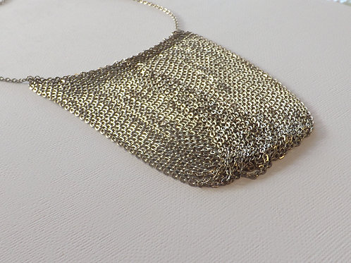 Cable chain bib necklace