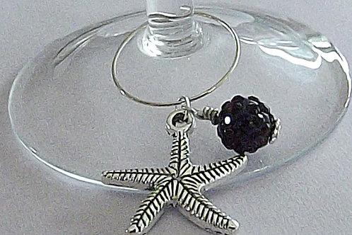 Starfish charm wine glass charms