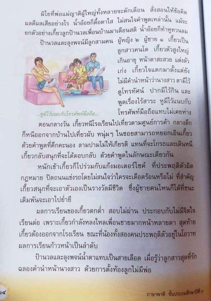 กลุ่มสาระการเรียนรู้ภาษาไทย สูตรแกนกลางการศึกษาขั้นพื้นฐาน พุทธศักราช พ.ศ.2551