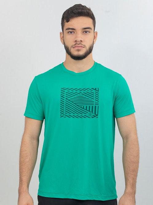 Camiseta SMARTFIT Geometric Verde