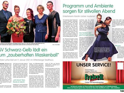 Presse Beitrag - Wittenberger Freizeit Magazin
