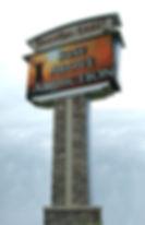 message center sign, pylon sign