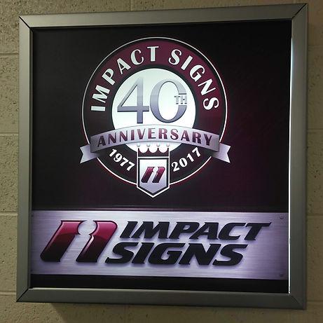 Light Frame Sign
