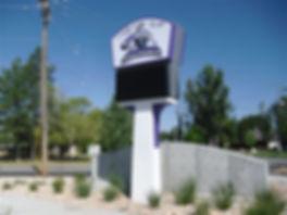 school sign, message center
