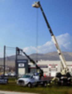 Boom Truck Service, crane service, light poles, 2 man bucket lift, boom truck, a/c unit, truss intall, trussing, sign install, installation, lift, sign service, 115' crane, 115 foot crane, crane, crane serivce salt lake, crane serivce ogden, crane service provo orem, boom truck, crane truck