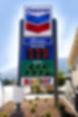 gas station sign, gas prices sign