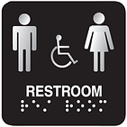Restroom Braile