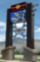 pylon sign, archetectural sign, message center