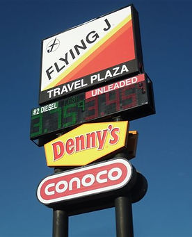gas price sign, gas staion sign, pole sign