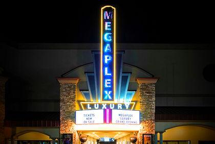 luxury theater sign