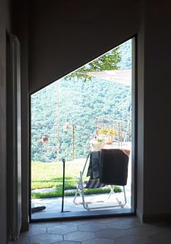 casa con vista sul paesaggio