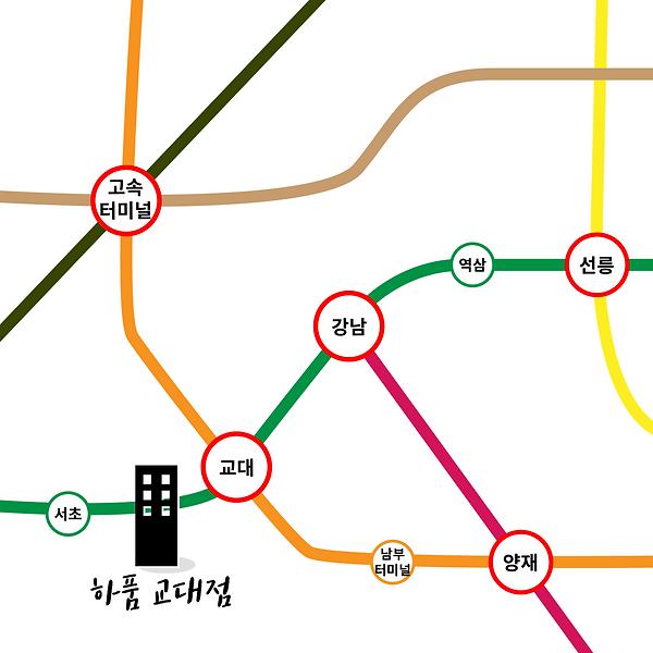 강남쉐어하우스_하품싱글즈_지하철노