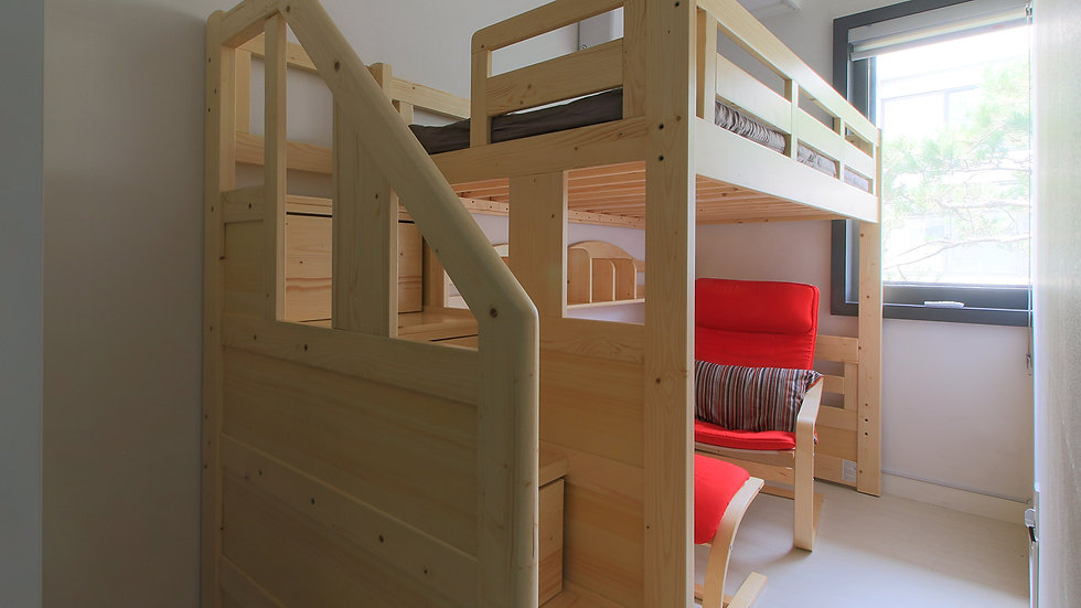 Female-only l single(1-person) room l bunk bed